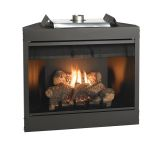"""Keystone Series 34"""" Deluxe B-Vent IP Flush Face Fireplace - NG"""