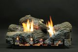 "18"" Stacked Wildwood Logs with VF IP Slope Glaze Burner - NG"
