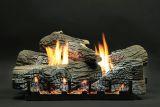"18"" Stacked Wildwood Logs with VF Manual Slope Glaze Burner - LP"