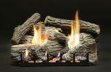 """18"""" Super Stacked Wildwood Logs w/MV Vented Slope Glaze Burner - LP"""