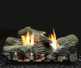 """Empire 24"""" Stacked Wildwood Refractory Log Set with Vented Burner - LP"""
