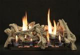 "Empire 18"" Driftwood Burncrete 10-Piece Log Set w/Vented Burner - LP"