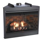 """Keystone Series 42"""" Deluxe B-Vent IP Flush Face Fireplace - NG"""