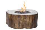 Elementi OFG145DWNG Manchester Cast Concrete NG Fire Table - Driftwood
