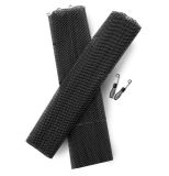 "RMP2421S- Black Deluxe Heavy Duty 1/4"" Replacement Mesh Packets 24"" Wide"