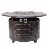 Armstrong Round Aluminum Fire Pit in Antique Brushed Bronze - LP
