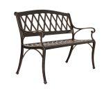 Well Traveled Living Hargrove Aluminum Patio Bench - Antique Bronze