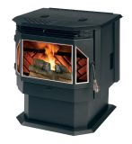 Free Standing Pellet stove with Auto Start and Blower, 45lb Hopper