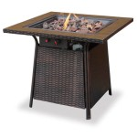 Fire Pit With Tile Top & Electronic Ignition - Lp Gas