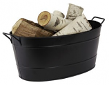 Black Oval Steel Tub By Minuteman