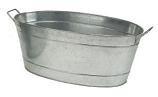 Large Oval Steel Tub