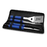Three-Piece Metro Tool Set with Blue Handles & Zipper Bag - Picnic Time