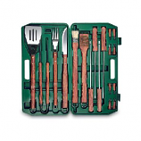 18-Piece Complete BBQ Set with Hard Green Case - Picnic Time