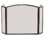 18201- 3 Panel Center Arch Screen-Matte Black