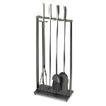 5-Piece Modern Matte Black Tool Set-Matte Black -Brushed Steel Handles