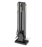 5 Piece Contemporary Tool Set, Matte Black with Brushed Steel Handles