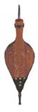 Bellows Hand Carved Dark Stain 17 1/2''