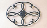 7'' X 10'' Wrought Iron Trivet Clover